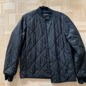 Rag & Bone Quilted Bomber Size L in Black